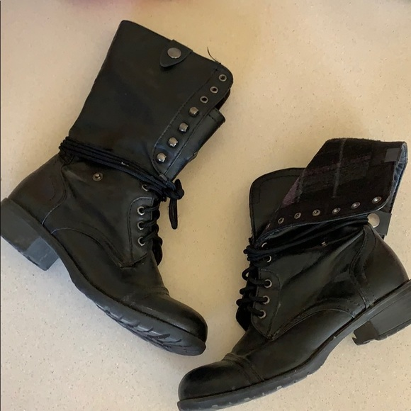 Fold Down Combat Boots
